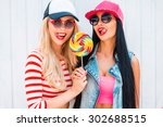 sweet as lollipop. seductive... | Shutterstock . vector #302688515