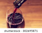 Pouring Red Wine Into Glass - Fine Art prints