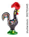 the galo de barcelos  barcelos... | Shutterstock . vector #302701445