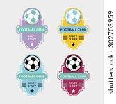 set of soccer football badge... | Shutterstock .eps vector #302703959