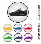 running shoe icon. vector... | Shutterstock .eps vector #302708285