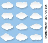 messages in the form of clouds. ... | Shutterstock . vector #302721155