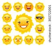 Cartoon Sun Character Emoticon...