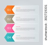 infographic template with step...   Shutterstock .eps vector #302725331