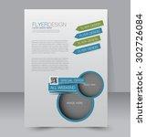 flyer template. business...   Shutterstock .eps vector #302726084