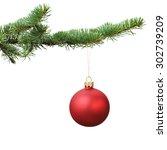 Red Christmas Blank Ball...