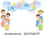 children choir | Shutterstock .eps vector #302746079