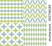 set of seamless patterns | Shutterstock .eps vector #302748185