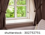 window with curtains | Shutterstock . vector #302752751