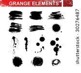 grunge blots and brush strokes. ... | Shutterstock .eps vector #30276487