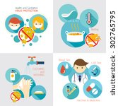 health and sanitation... | Shutterstock .eps vector #302765795