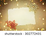 christmas card with space and... | Shutterstock . vector #302772431