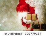 Santa Claus Gloved Hands...
