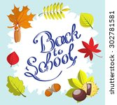 calligraphic back to school... | Shutterstock .eps vector #302781581