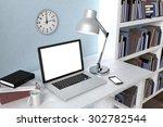 3d illustration laptop and... | Shutterstock . vector #302782544