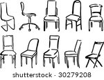 painted stools.set 1 | Shutterstock .eps vector #30279208