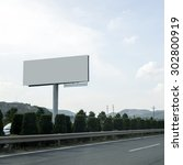 highway billboards background | Shutterstock . vector #302800919