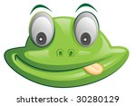an illustration of a cute frog | Shutterstock . vector #30280129