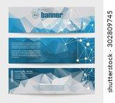 a set of modern vector banners... | Shutterstock .eps vector #302809745