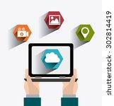 social media design  vector... | Shutterstock .eps vector #302814419