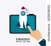 business strategy design ... | Shutterstock .eps vector #302818031