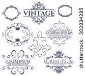 luxury calligraphic vintage... | Shutterstock .eps vector #302834285