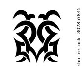 tribal tattoo vector design... | Shutterstock .eps vector #302859845