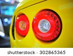 Detail Of Red Tail Light On A...