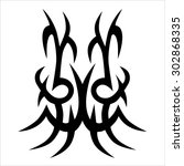 tribal tattoo vector design... | Shutterstock .eps vector #302868335