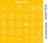 linear traveling icon for... | Shutterstock .eps vector #302877539