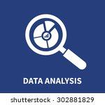 data analysis concept on blue... | Shutterstock .eps vector #302881829