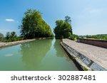 canal de garonne dates from the ... | Shutterstock . vector #302887481