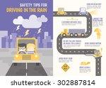 infographics cartoon character... | Shutterstock .eps vector #302887814
