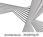 black and white mobious wave... | Shutterstock .eps vector #302893625