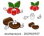 coffee cartoon characters with... | Shutterstock .eps vector #302902937