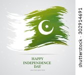 14th of august. pakistan... | Shutterstock .eps vector #302914691