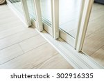 Sliding glass door detail and...