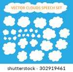 vector sky clouds. | Shutterstock .eps vector #302919461