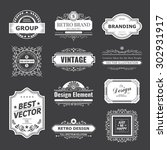 retro vintage labels insignias... | Shutterstock .eps vector #302931917