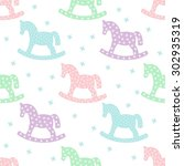 Seamless Pattern With Rocking...