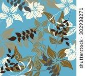 floral seamless pattern  ... | Shutterstock .eps vector #302938271