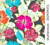 floral seamless pattern  ... | Shutterstock .eps vector #302939351