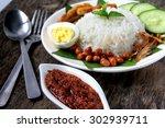 nasi lemak malaysian cuisine. ...   Shutterstock . vector #302939711