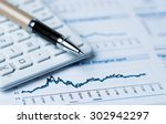 financial accounting concept... | Shutterstock . vector #302942297