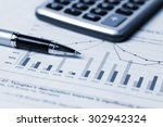 financial accounting concept... | Shutterstock . vector #302942324