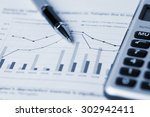 financial accounting concept... | Shutterstock . vector #302942411