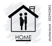 family digital design  vector... | Shutterstock .eps vector #302942801