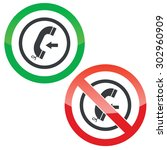 allowed and forbidden signs... | Shutterstock .eps vector #302960909