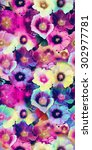 floral print in multicolor. | Shutterstock . vector #302977781