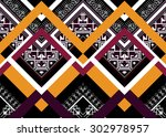 geometric ethnic pattern design ... | Shutterstock .eps vector #302978957